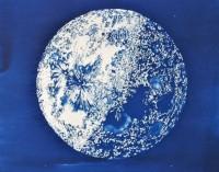 Zoë Burt - Moon cyanotype